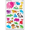 Trend Large Animals superShapes Stickers - Animal Theme/Subject - Animal - Self-adhesive - Acid-free, Fade Resistant, Non-toxic, Photo-safe - Multicolor - 160 / Pack