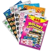 Trend Holiday Celebration Little Sparkler Stickers - Fun Theme/Subject - Sparkle Stars, Pumpkin, Smilies, Heart - Self-adhesive - Acid-free, Fade Resistant, Non-toxic, Photo-safe - Multicolor - 648 /