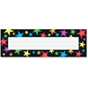 """Trend Gel Star Desktop Nameplate - Gel Star - 2.88"""" Height x 9.50"""" Width - Multicolor - 36 / Pack"""