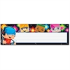 "Trend Block-stars! Children's Nameplates - Learning Theme/Subject - Colorful Spotlights, BlockStars - 2.88"" Height x 9.50"" Width - Multicolor - 36 / Pack"