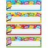 "Trend Owl-Stars! Desktop Nameplates - 2.88"" Height x 9.50"" Width - Multicolor - 32 / Pack"