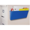 Storex Wall Pocket - Wall Mountable - Blue - 1Each