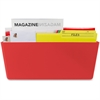 Storex Wall Pocket - Wall Mountable - Red - 1Each