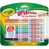 Crayola Fine Line Washable Dry Erase Markers - Fine Point Type - Bullet Point Style - Assorted - 12 / Pack