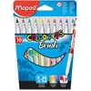Maped Color'Peps Brush Tip Markers - Fine, Wide Point Type - 2.8 mm Point Size - Brush Point Style - Assorted - 10 / Pack