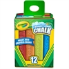 "Crayola Washable Color Sidewalk Chalk Sticks - 4"" Length - Assorted - 12 / Box"