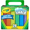 "Crayola Washable Color Sidewalk Chalk Sticks - 4"" Length - Assorted - 24 / Box"