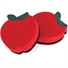 The Pencil Grip Magnetic Apple Whiteboard Eraser - Magnetic - Red - 12 / Pack