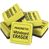 The Pencil Grip Magnetic Whiteboard Eraser Class Pack - Durable, Soft, Magnetic - Yellow - 24 / Pack