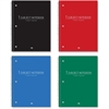 """Roaring Spring College-ruled Wirebound Notebook - 70 Sheets - Printed - Wire Bound - College Ruled 8"""" x 10.50"""" - White Paper - Red, Blue, Black, Green Cover - Poly Cover - 1Each"""