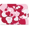 WonderFoam Peel and Stick Hearts - Valentine's Day, Birthday Theme/Subject - 264 Heart - Self-adhesive - Durable, Easy Peel - Red, Pink, White - Foam - 264 / Set