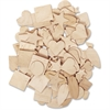 ChenilleKraft Natural Wooden Shapes - 350 / Set - Natural - Wood