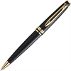 Waterman Expert Ballpoint Pen - Black - Glossy Black Barrel - 1 Each