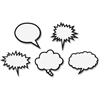 "Teacher Created Resources Speech Bubbles Magnet Accents - Learning Theme/Subject - 10 Speech Bubbles - Magnetic - Durable, Damage Resistant, Strong, Reusable - 0.10"" Height x 3.75"" Width x 4.50"" Depth"