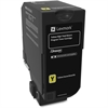 Lexmark Unison Original Toner Cartridge - Yellow - Laser - High Yield - 12000 Page