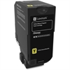 Lexmark Unison Original Toner Cartridge - Yellow - Laser - Standard Yield - 3000 Page