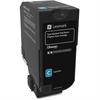 Lexmark Unison Original Toner Cartridge - Cyan - Laser - Standard Yield - 7000 Page