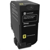Lexmark Unison Original Toner Cartridge - Yellow - Laser - Standard Yield - 7000 Page