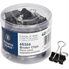 Business Source Small Binder Clips - Small - for Paper, Project, Document - 40 Pack - Black - Steel, Zinc