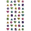 ChenilleKraft Geometric Gemstone Stickers - Fun Theme/Subject - 45 Geometric - Self-adhesive - Non-toxic - Assorted - 45 / Each