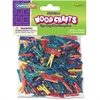 "ChenilleKraft WoodCrafts Bright Mini Clothespins - Mini - 1"" Length - for Artwork - 250 Pack - Assorted - Wood, Metal"