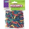 "ChenilleKraft WoodCrafts Bright Mini Clothespins - Mini - 1"" Length - for Artwork - 250 Pack - Assorted - Wood, Metal"