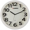 "Lorell 13"" Round Quartz Wall Clock - Analog - Quartz"