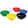 "Roylco Classroom Bowls - 2"" x 6"" - 6 / Pack - Red, Yellow, Green, Blue, Black, White - Plastic"