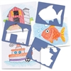 "Roylco Child's First Stencil - Animal, Object - 7"" x 8"" - Blueberry"