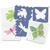 "Roylco Nature Stencils - Nature - 7.5"" x 7.5"" - Blueberry"