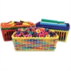 "Roylco R57001 Super Value Class Baskets - 2.4"" Height x 6.3"" Width x 4.3"" Depth - Blue, Red, Orange, Green, Yellow, Purple - Plastic - 12 / Set"