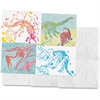 "Roylco Dinosaur Shape Rubbing Plates - 7.5"" x 9.5"" - 6 / Pack - Clear - Plastic"