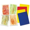 "Roylco Texture Rubbing Plates - 4 Piece(s) - 8.5"" x 11"" - 1 Pack - Assorted - Plastic"