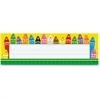"Trend Colorful Crayons Name Plates - 36 / Pack - 9.5"" Width x 2.9"" Height - Rectangular Shape - Assorted"