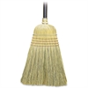 Genuine Joe Corn Fiber Toy Broom - 6 / Carton - Corn Fiber Bristle, Metal Band, Lacquered Wood Handle - Natural