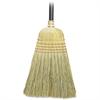 "Genuine Joe Corn Fiber Toy Broom - 24"" Length Handle - 1 Each - Corn Fiber Bristle, Metal Band, Lacquered Wood Handle - Natural"