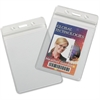 SKILCRAFT Resealable Badge Holders - Vinyl - 25 / Box - Clear