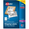 "Avery Paper Receipt White Shipping Labels - Permanent Adhesive - 250 Label(s)"" - 5.06"" Width x 7.62"" Length - 1 / Sheet - Rectangle - Laser, Inkjet - White - Paper - 250 / Box"