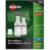 "Avery GHS Chemical Container Labels - Permanent Adhesive - 200 Label(s)"" - 3.50"" Width x 5"" Length - 4 / Sheet - Rectangle - Inkjet - White - 200 / Box"