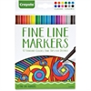 Crayola Classic Colors Fine Line Markers Set - Assorted - 12 / Each