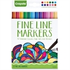 Crayola Contemporary Colors Fine Line Markers Set - Assorted - 12 / Each