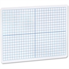 "Flipside Grid/Plain 2side DryErase Lap Board - 12"" (1 ft) Width x 9"" (0.8 ft) Height - White Surface - Rectangle - Portable - 1 Each"