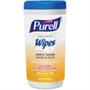 Purell Fragrance Free Hand Sanitizing Wipes - White - Fragrance-free, Textured, Durable, Soft, Alcohol-free - For Hand, Face - 40 Sheets Per Canister - 1 Each
