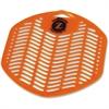 Z-Screen Citrus Deodorizing Urinal Screen - Deodorizer, Translucent, Flexible, Ozone-safe - Citrus Zest Fragrance - Lasts up to 30 Day - 72 / Carton - Orange