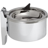"""Impact Products 4"""" Deluxe Metal Wall Ashtray - Hinged Lid - Round - Wall Mountable, Rust Proof, Anti-theft - 4"""" Diameter - Metal, Steel, Chrome Plated - Chrome"""