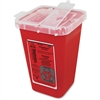 "Impact Products 1-qt Sharps Container - Lockable - 1 quart Capacity - Puncture Resistant, Handle - 6.8"" Height x 5"" Width x 4.5"" Depth - Red"