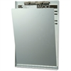 "OIC Privacy Cover Aluminum Clipboard - 8.50"" x 11"" - Low-profile - Aluminum - Silver"