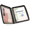 "OIC Ringbinder Clipboard Storage Box - 8.30"", 8.50"" x 11.70"", 11"" - Spring Clip - Plastic - Charcoal"