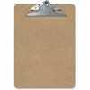 "OIC Letter-size Clipboards - 1"" Clip Capacity - 8.50"" x 11"" - Spring Clip - Hardboard - Brown"