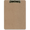 "OIC Low-profile Clipboard - 1"" Clip Capacity - 8.50"" x 11"" - Low-profile - Hardboard - Brown"